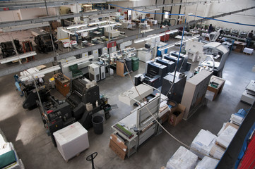 Press printing (printshop) - Offset machine