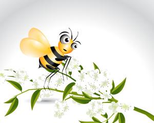 Happy Bee Character