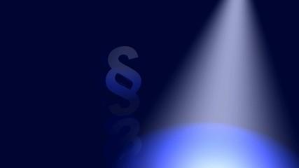 Konzept - Rechtsbeistand finden - Blau