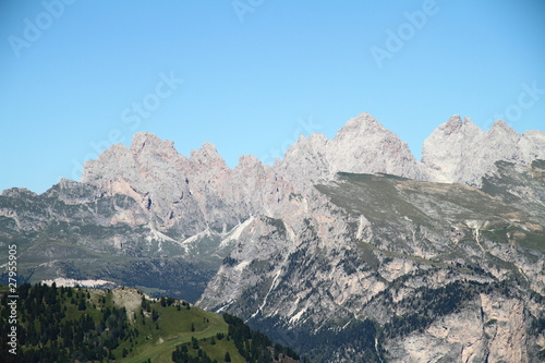 Panoramic view of Puez's group Dolomites