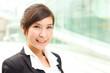 Closeup portrait of smiling business woman