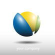 Logo break a ball, synergy (vector)