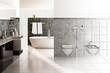 Contemporary Designed Bath (3D)