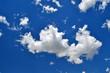 White fluffy clouds in a blue sky in South Australia.