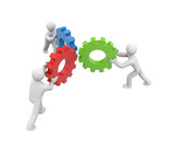 Partnership. Image contain clipping path poster