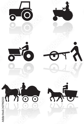 Vector set of different farmer symbols.