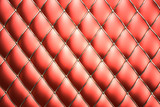 Red genuine leather pattern background poster