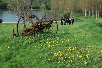 soldats de napoleon a l'entrainement
