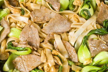Rice Noodles and Beef Stir Fry