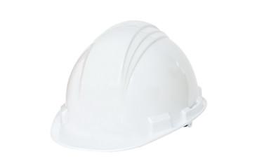 White hard hat on white backgorund