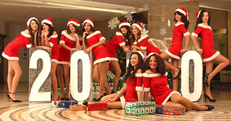 Ten beautiful Santas