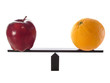 Metaphor compairing Apples to Oranges Balanced on beam