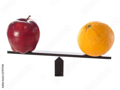 Compare Apples to Oranges Heavy metaphor