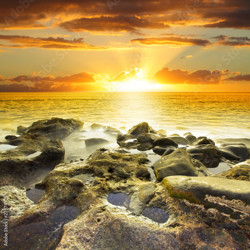 Beautiful orange sundown