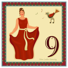 The 12 Days of Christmas - Nine ladies dancing