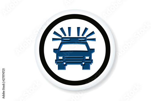 Icône : voiture de police