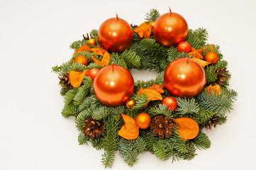 Copper advent wreath