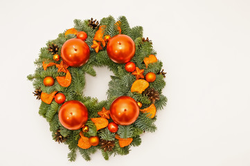 Wreath from above