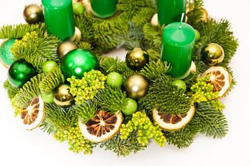 Detail on wreath