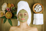 Spa Facial Mud Mask. Dayspa poster