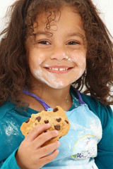 Child Smiling Cookie Flour