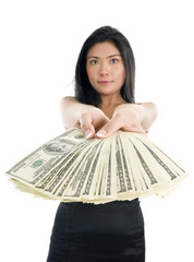 woman with much money