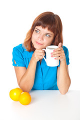 Teen-girl with cup of coffee