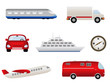 Transportation related icons