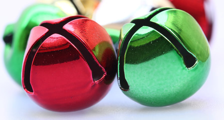 Two Christmas Ornaments (red and Green)