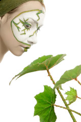 Green plant cosmetics skincare