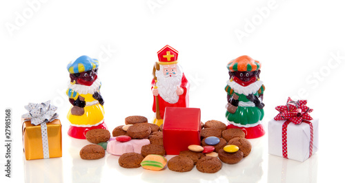 gifts and gingernuts with Sint and Piet traditional Festive in H