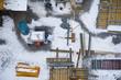 Baustelle mit Schneespuren