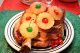 Pork Shoulder with Pineapples and Cherries