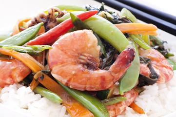 Thai Meeresfrüchte Chili mit Reis
