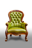 luxury green leather armchair