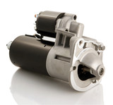 Automotive starter motor and solenoid