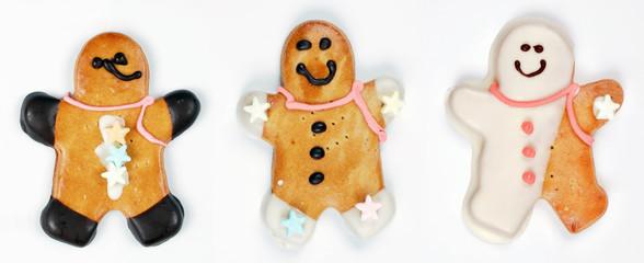 christmas gingerbread man cookies
