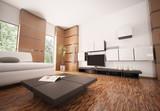Fototapety Modern Wohnzimmer interior 3d render