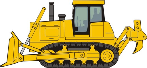 construction  bulldozer on a caterpillar base