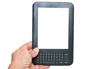 Hand Holding an E-reader