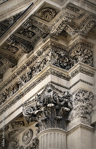 The pillar of Pantheon, Paris, France