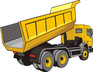 building dump truck for loose material