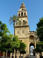 Bell tower at the Mezquita mosque/cathedral in Cordoba, Spain