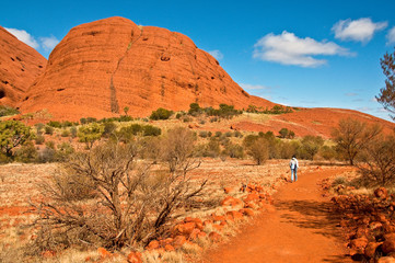 view of Kata Tjuta, australian red center