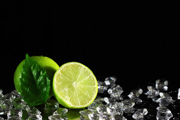 Lime on a black background © Anton Maltsev