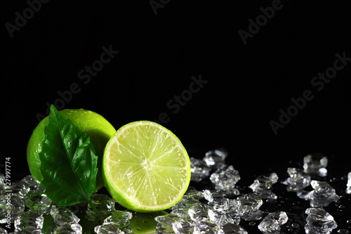 Lime on a black background - 27997774