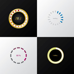 Circle progress indicators