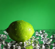 whole lime on a green background