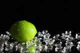 Lime on a black background-