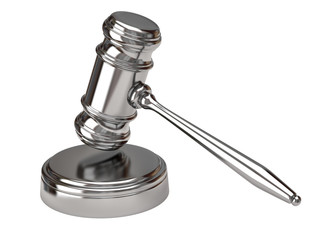 Gavel isolated on white